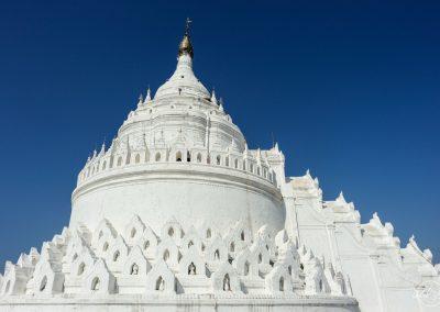 Top of Hsinbyume white pagoda