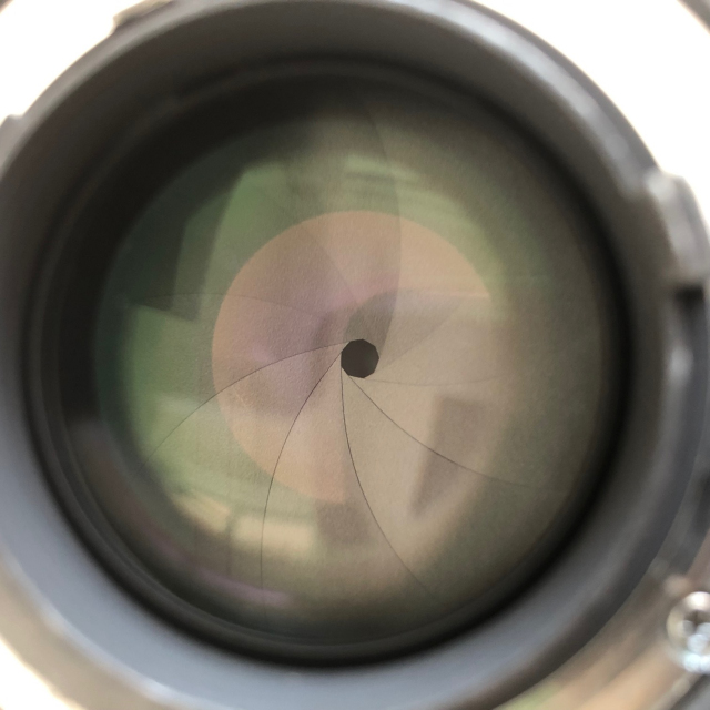 Aperture blades of Nikon 24mm lens