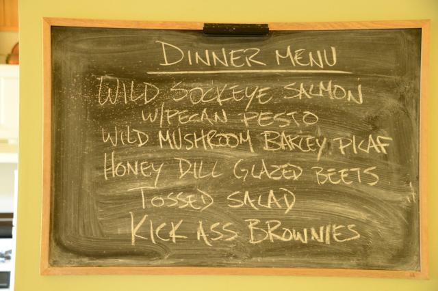 Black board with menu written in white