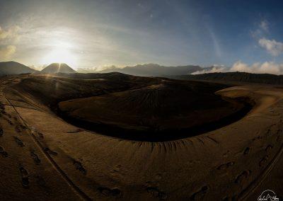 Panoramic view of dune of sand